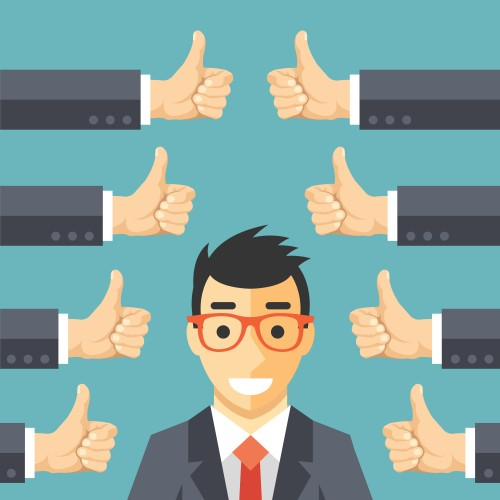 good boss getting the teams thumbs up and thanks team that is happy to work good leadership.jpg